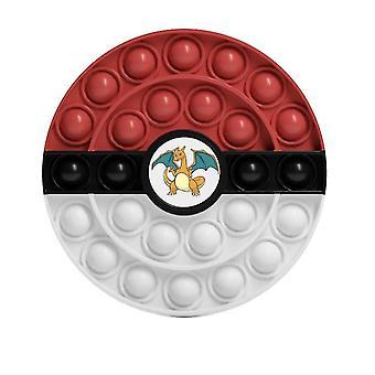 Brinquedos de prensa de quebra-cabeça de cores infantis, brinquedos pokeball (cor2)