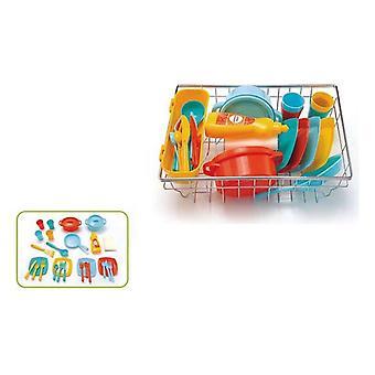 بالوعة رود سلة + مجموعة أدوات العشاء (31 × 22 × 10 سم)