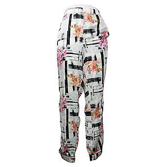托拉尼系列女睡衣裤子编织拉印花白色 A390127