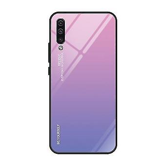 Boîtier en verre trempé à l'épreuve des chocs auto-encouragés pour Samsung Galaxy A70 - Purple