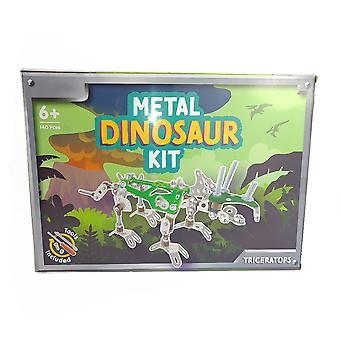 Metall dinosaur byggesett | Triceratops | Barnesett