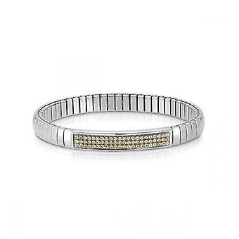 Nominatie italië stretch armband geel glitter 043210_024