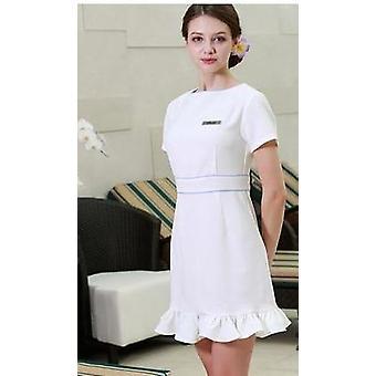 skjønnhet arbeid uniform kortermet sommer spa kjole