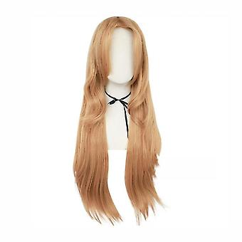 Косплей парики Меч Искусства Yuuki Asuna Hallween Длинные синтетические парики волос