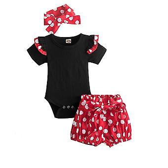 Baby kleding zoete pasgeboren kleding roze tops en shorts