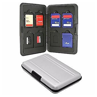 Silver Micro SD držiteľ karty SDXC úložný držiak pamäťová karta puzdro chránič