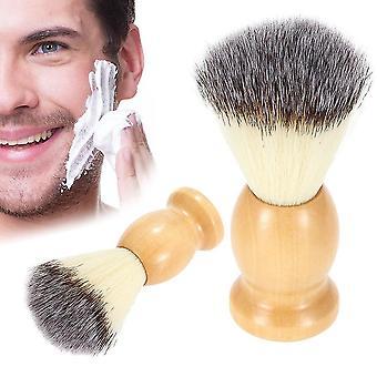 מברשת גילוח שיער ניילון טהורה מקצועית עם ידית עץ