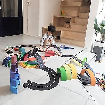 Children's Highway Educational Toys Flexible Educational Track Game Mat Universal Accessories Game Scene
