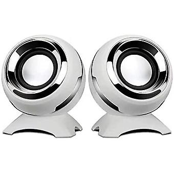 Computer Usb-power Speakers Mini Desktop Speakers With Hifi Sound,superior Stereo Sound,double Horn, Perfect For Computer,laptop (white)