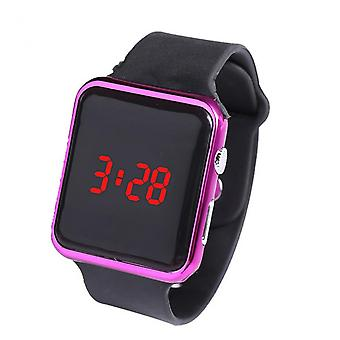 Electronic Digital Watch 25.5cm Strap Length Led Large Square Screen Display