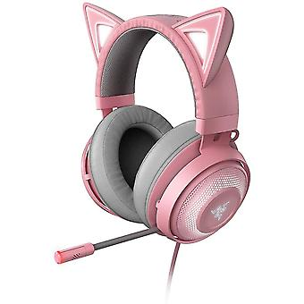 Usb adapters kraken kitty - gaming headset the cat ear headset with rgb chroma lighting  microphone with active