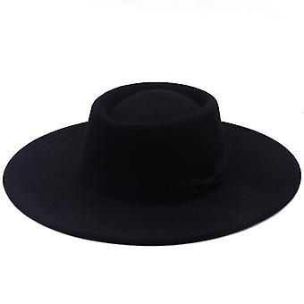 Szeroki rondo Bowknot Bowler Hat Ladies Elegant Retro Style British