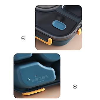 Silktaa Plastic Lunch Box Portable Microwaveable 5 Compartment Bento-style Lunch Box