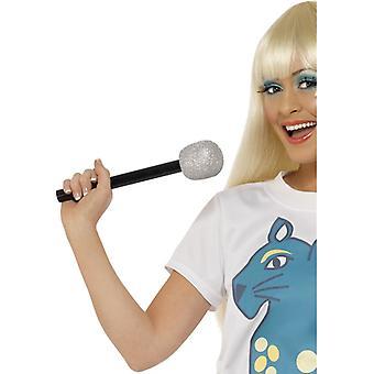 Mikrofon Glitter Mikro Mikrophon Party Spielmikrofon