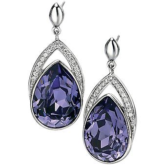 925 Silver Swarovski Crystalal And Zirconium Fashionable Earring