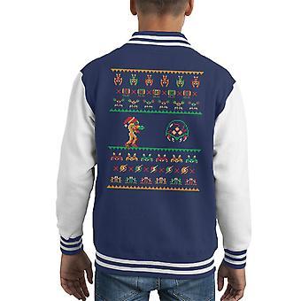 あなたはメトロイド クリスマス子供のバーシティ ジャケットを希望します。