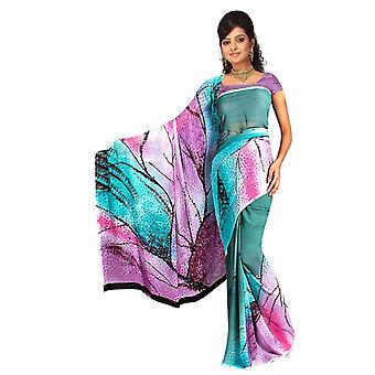 Gopa Georgette Printed Casual Saree Sari Bellydance fabric