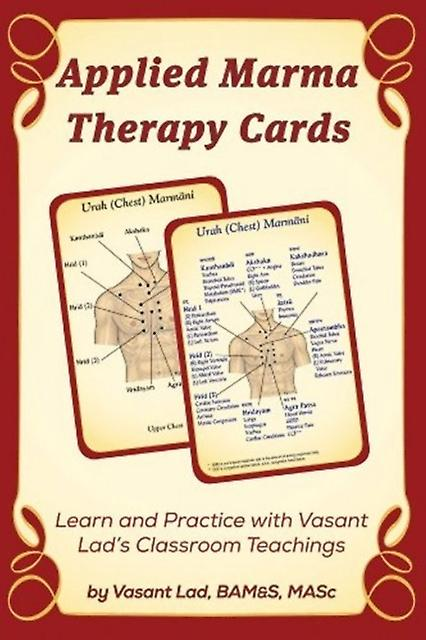 APPLIED MARMA THERAPY CARDS (Cards) by Lad Vasant