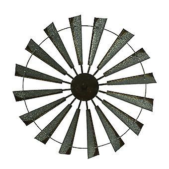 Trudnej sytuacji ocynkowanej rustykalne wiatrak metalowe zawieszki średnicy 36 cali