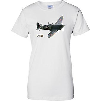 Supermarine Spitfire - Classic CamoFlage - WW2 Fighter - naisten T-paita