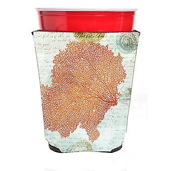 Carolines skatter SB3023RSC korall rosa röd Solo Cup dryck isolator Hugger