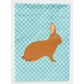 Carolines Treasures  BB8143GF Rex Rabbit Blue Check Flag Garden Size