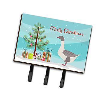 أوزة الخلفية الرمادية برتقالي عيد الميلاد المقود أو حائز المفتاح