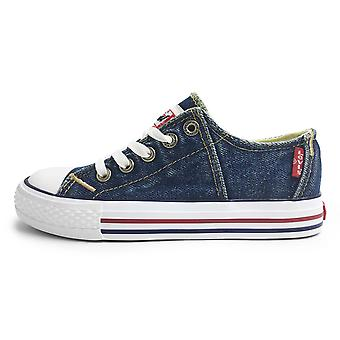Levis Red Tab basse dentelle toile chaussures bleu