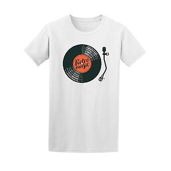 Retro musiikki Vinyl Record Tee Men-kuva: Shutterstock