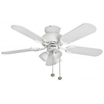 Amalfi de ventilateur de plafond blanc avec éclairage 91 cm/36
