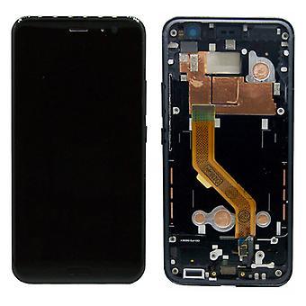Für HTC U11 Reparatur Display LCD Komplett Einheit mit Rahmen Touch Schwarz Ersatz