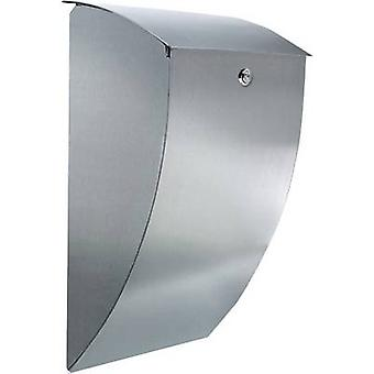 Burg Wächter 32420 MILANO 3843 ES Letterbox Stainless steel Silver Key