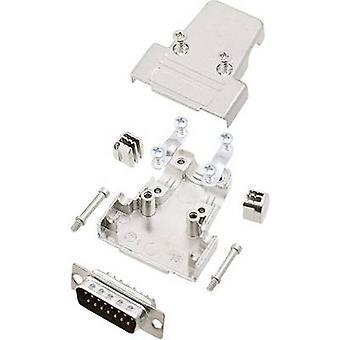 encitech TRI-M-15-DMP-K 6355-0039-02 D-SUB PIN strip set 180 ° aantal pinnen: 15 soldeer emmer 1 set