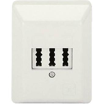 Hama NFN-Kupplung Phone socket Surface-mount White