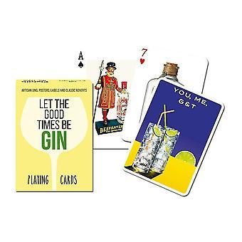 Gin (Anna hyvinä aikoina) joukko pelikortteja + Jokerit