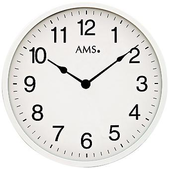 AMS 9494 wall clock quartz analog knows about simply very flat