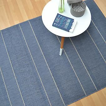 Patio Flachgewebe Teppiche Pat10 Blue Stripe