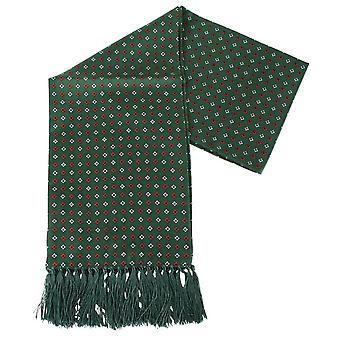 Sciarpa di seta Aviator diamante di Knightsbridge cravatte - verde