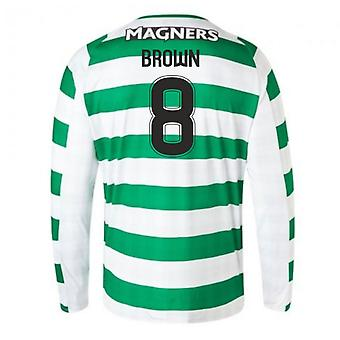 2018-2019 Celtic Home Langarm-Shirt (braun 8)
