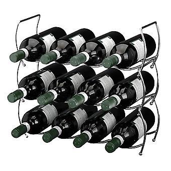 Excellent Houseware Stapelbaar wijnrek  (3 delig)