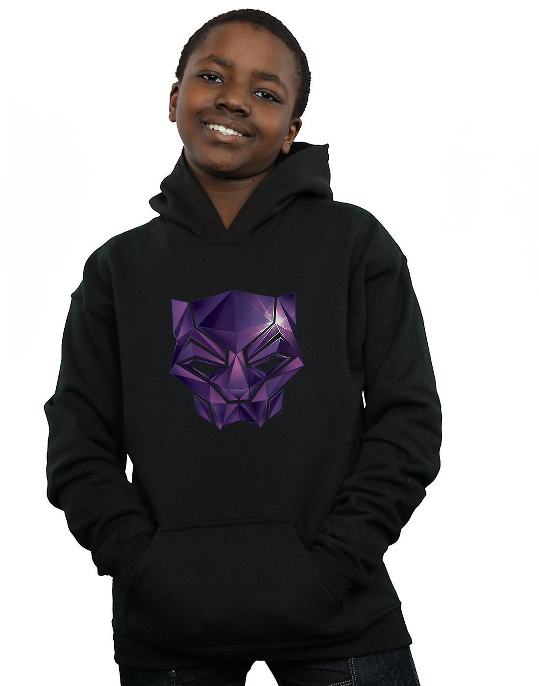 Marvel Boys Avengers Infinity War Black Panther Geometric Hoodie