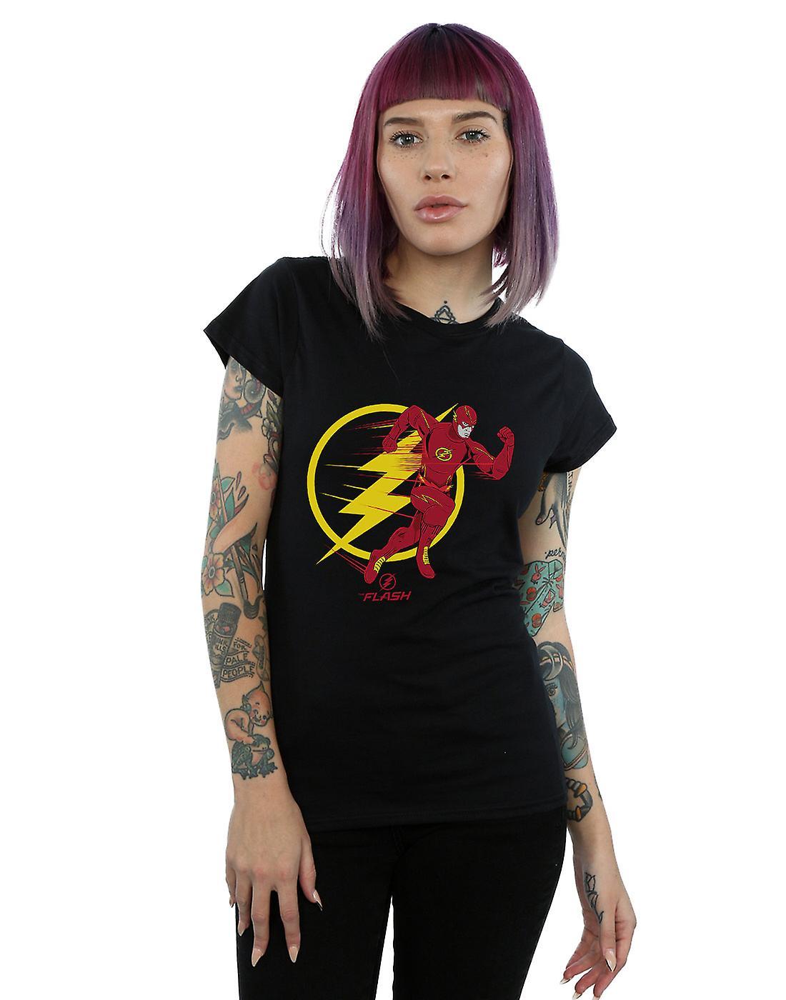 DC Comics Women's The Flash Running Emblem T-Shirt