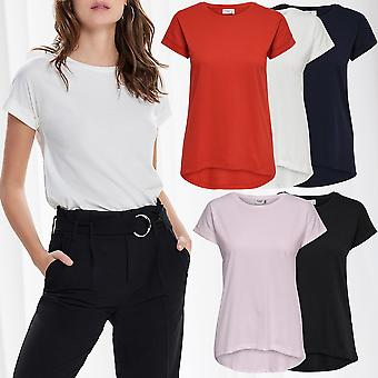 JDY Womens Basic T-Shirt Short Sleeve Top Only JDYLOUISA Basic Casual Longsleeve
