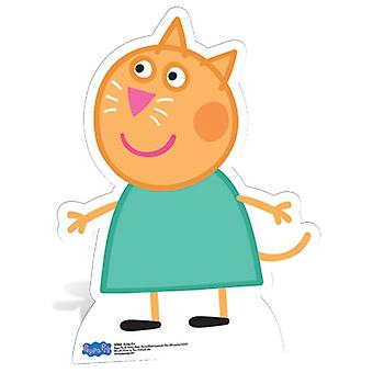 Candy Cat Lifesize Pap Udskæring / Standee - Peppa Pig