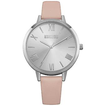 Missguided | Ladies | Pink Leather Strap Silver Dial | MG001P Watch