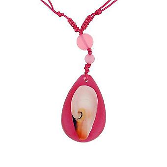 The Olivia Collection Nautical Underwater Life Necklace with REAL Shell Set In Pink Resin Case