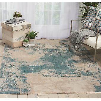 Maxell MAE13 Ivoire Rectangle bleu sarcelle tapis tapis modernes