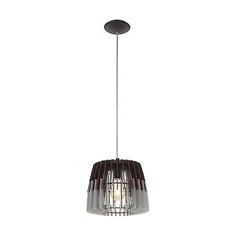 Eglo - Artana enkelt lys tepper anheng i Satin Nickel Finish med grå og sort tre skygge EG96955