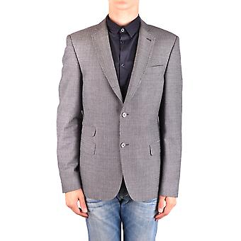 Daniele Alessandrini Ezbc107076 Men's Grey Wool Outerwear Jacket