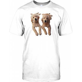 Golden Retreiver hvalpe - Cute Pet hund Kids T Shirt